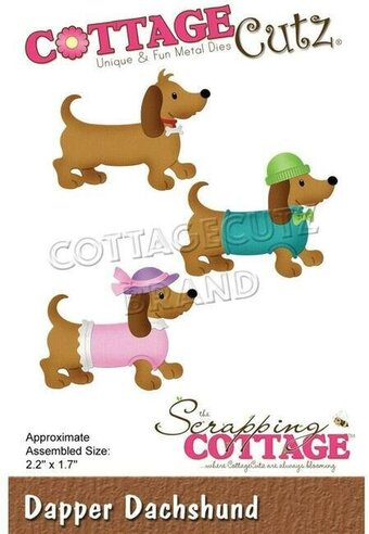 Dapper Dachshund - CottageCutz Craft Die