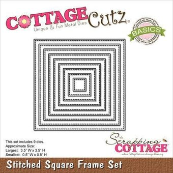CottageCutz Stitched Square Frame Set Die