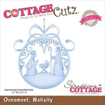 CottageCutz Nativity Ornament Christmas Die