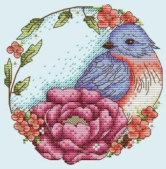 Blue Bird - Cross Stitch Pattern