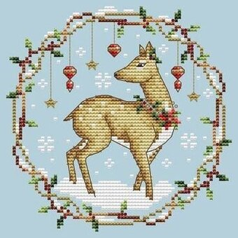 Woodland Deer - Cross Stitch Pattern