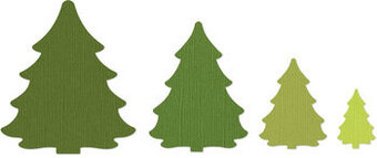 Sizzix Framelits Die Set - Christmas Trees
