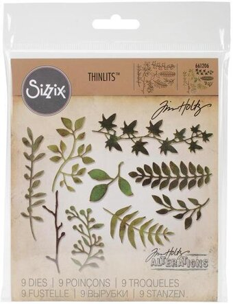Tim Holtz Thinlits Dies - Garden Greens