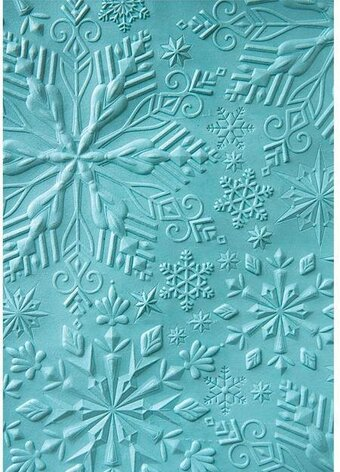 Sizzix 3-D Embossing Folder - Winter Snowflakes