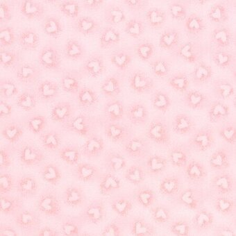 Pink Heart Flannel Fabric - Fat Quarter