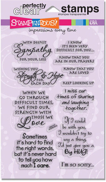 Sincere Sentiments - Clear Rubber Stamp
