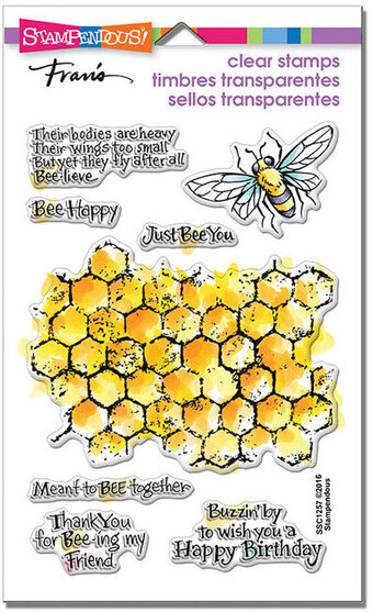 Honeycomb Wishes Perfectly Clear Stamps