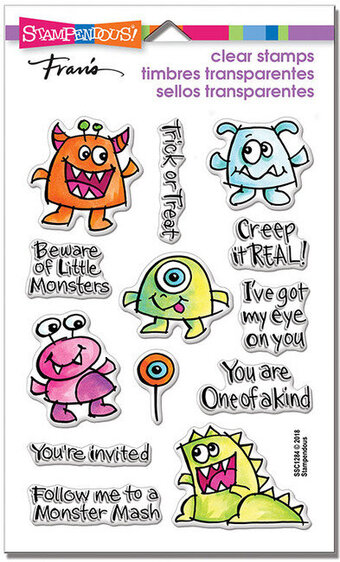 Little Monsters Perfectly Clear Halloween Stamps