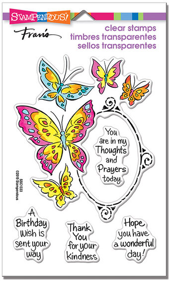 Butterfly Frame - Perfectly Clear Stamps Set