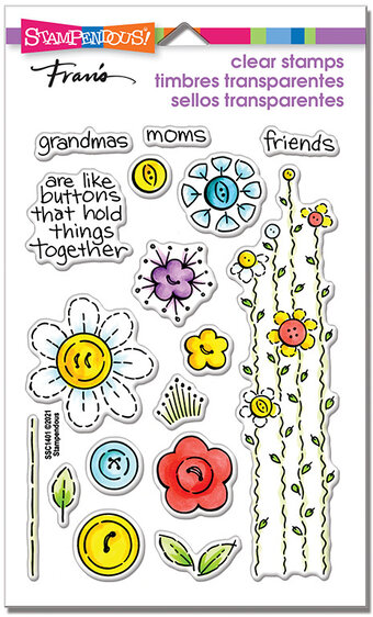 Button Blossoms Set - Perfectly Clear Stamp
