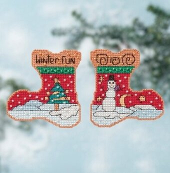 Winter Fun - Beaded Cross Stitch Kit