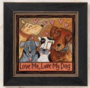 Love Me, Love My Dog - Beaded Cross Stitch Kit