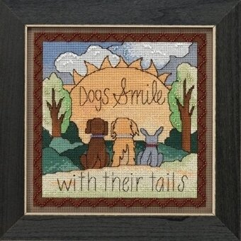 Dogs Smile - Beaded Cross Stitch Kit