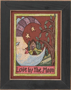 Love By The Moon - Beaded Cross Stitch Kit