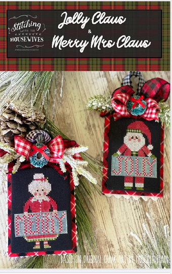 Jolly Claus & Merry Mrs Claus - Cross Stitch Pattern