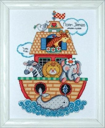 Noah's Ark Birth Record - Counted Cross Stitch Kit