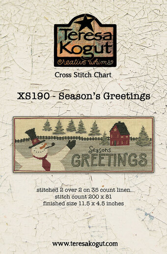 Season's Greetings - Christmas Cross Stitch Pattern