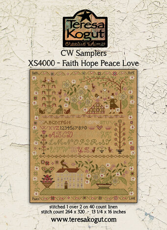 Faith Hope Peace Love - Cross Stitch Pattern