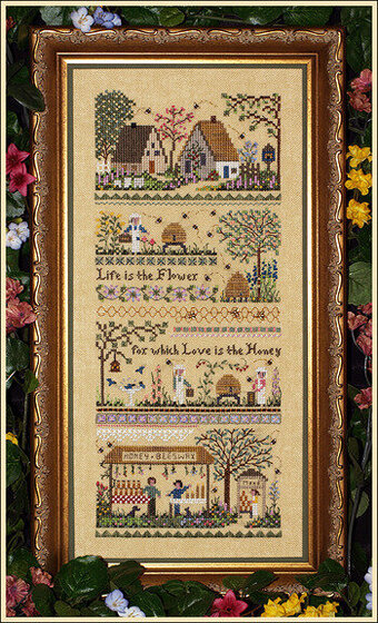 Babe's Honey Farm Sampler - Cross Stitch Pattern