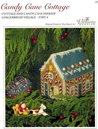 Candy Cane Cottage - Cross Stittch Pattern