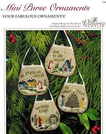 Mini Purse Ornaments - Cross Stitch Pattern
