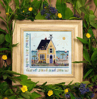 Beach Cottage - Cross Stitch Pattern