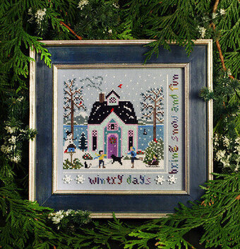 Winter Cottage - Cross Stitch Pattern