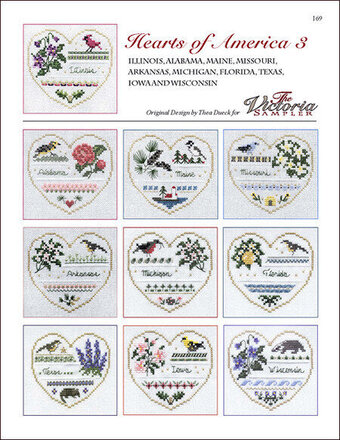 Hearts Of America 3 - Cross Stitch Pattern