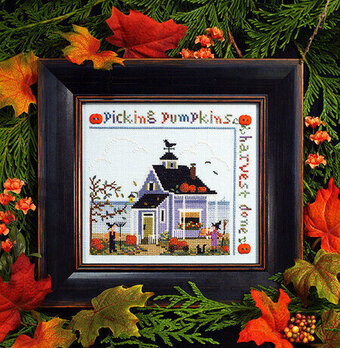 Pumpkin Cottage - Cross Stitch Pattern