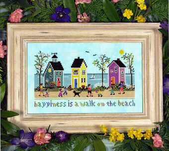 Ocean Boulevard Sampler - Cross Stitch Pattern