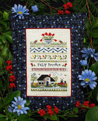 Tulip Terrace - Cross Stitch Pattern