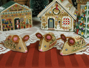 Gingerbread Mice - Cross Stitch Pattern