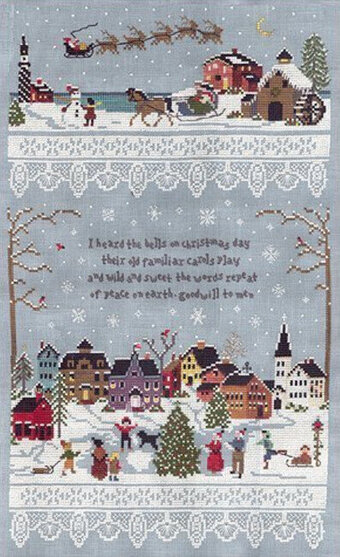 Christmas Village - Cross Stitch Pattern