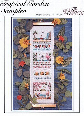 Tropical Garden Sampler - Cross Stitch Pattern