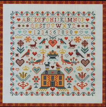Yellow House Sampler - Cross Stitch Pattern