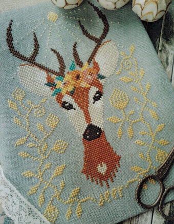 Spring Deer - Cross Stitch Pattern