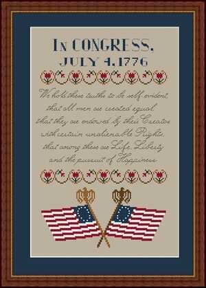 In Congress - Cross Stitch Pattern