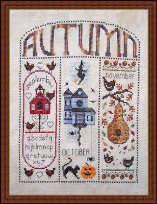 Autumn Homes - Cross Stitch Pattern