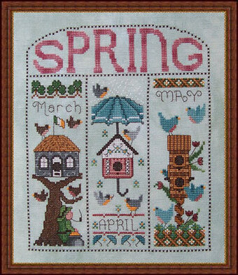 Spring Homes - Cross Stitch Pattern