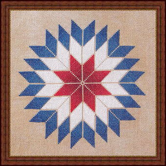 Americana Star  - Cross Stitch Pattern