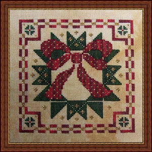Holiday Wreath - Cross Stitch Pattern