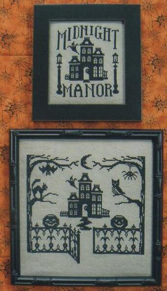 Midnight Manor (One Color Wonders) - Cross Stitch Pattern