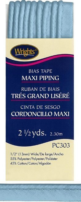 "Bias Tape Corded Maxi Piping 1/2"" - #515 Blue"