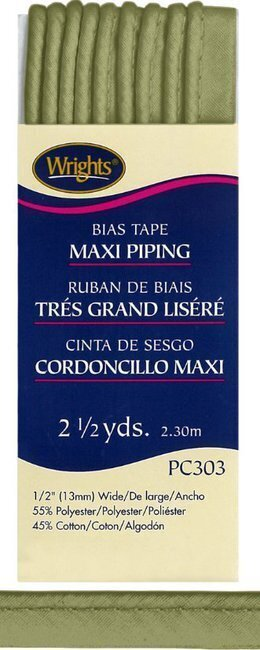 "Bias Tape Corded Maxi Piping 1/2"" - #1239 Leaf"