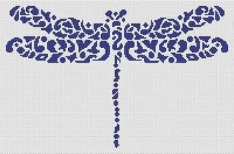 Tribal Dragonfly - Cross Stitch Pattern