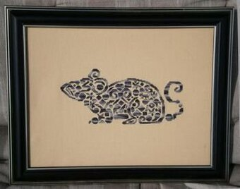 Tribal Mouse - Cross Stitch Pattern