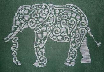 Tribal Elephant - Cross Stitch Pattern