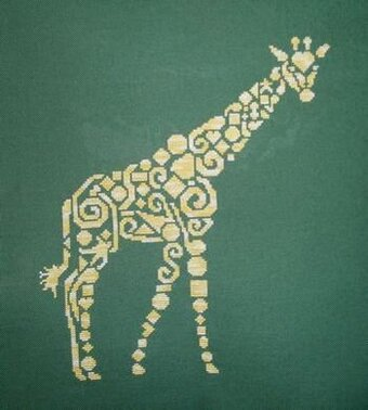 Tribal Giraffe - Cross Stitch Pattern