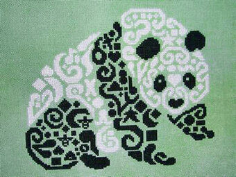 Tribal Panda - Cross Stitch Pattern