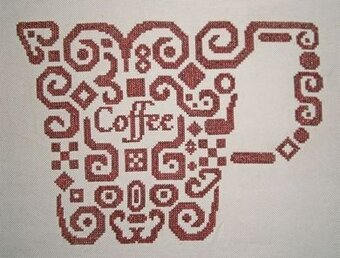 Tribal Coffee- Cross Stitch Pattern